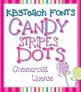 FONTS: KB3 Candy Stripes 5-Font Set (Commercial Use)