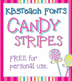 FREE FONTS: KB3 Candy Stripes 5-Font Set (Personal Use)