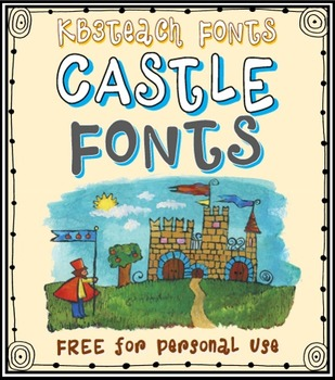 FREE FONTS: KB3 Castle Knights 5-Font Set (Personal Use)