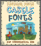 FONTS: KB3 Castle Knights 5-Font Set (Commercial Use)