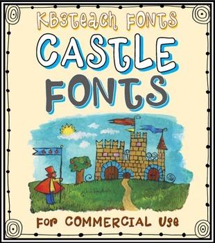 FONTS: KB3 Castle Knights 5-Font Set (Commercial Use)