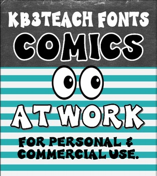 FONTS:  KB3 Comics at Work 2-Font Set (Personal & Commercial Use)