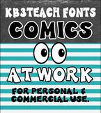 FONTS:  KB3 Comics at Work 2-Font Set (Personal & Commercial Use)