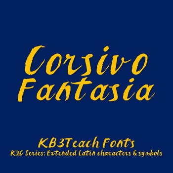 FREE FONTS: Corsivo Fantasia (Personal Use: K26 Series)