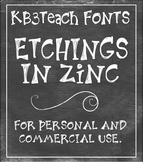 FONTS: KB3 Etchings In Zinc 3-Font Set (Personal & Commercial Use)