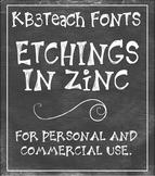FONTS: KB3 Etchings In Zinc 3-Font Set (Personal & Commerc
