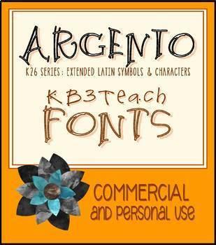 FONTS: KB3 Filigree Fonts 4-Font Set (Commercial Use)