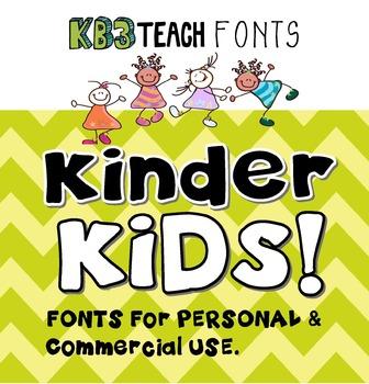 FONTS:  KB3 Kinder Kids 6-Font Set (Personal & Commercial Use)