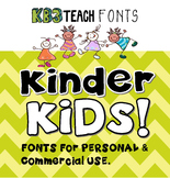 FONTS:  KB3 Kinder Kids 6-Font Set (Personal & Commercial Use)