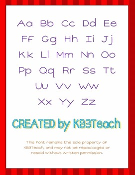 FONTS:  KB3 Ladybug Red (FREE for Personal Use)
