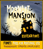 FREE FONTS: KB3 Moonlit Mansion (Personal Use)