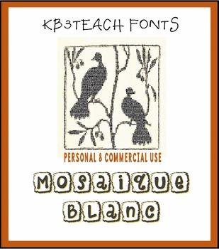 FONTS: KB3 Mosaique Font Tiles 3-Font Set (Commercial & Personal Use)