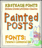 FONTS: KB3 Painted Posts (Personal & Commercial Use: K26 Series)