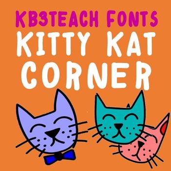 FONTS: KB3 Kitty Kat Corner / 4-Font Set (K26 Series)