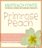 FREE FONTS: KB3 Primrose Peach (Personal Use: K26 Series)