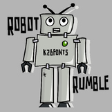 FREE FONTS:  KB3 Robot Rumble (Personal Use: K26 Series)