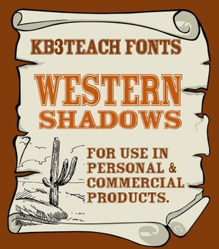 FONTS:  KB3 Western Fonts 3-Font Set (Personal & Commercial Use)