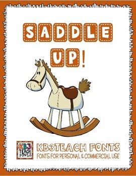 FONTS: KB3 Saddle Up! 5-Font Set (Personal & Commercial Use)