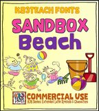 Fonts: KB3 Sandbox Beach 5-Font Set (Personal & Commercial Use: K26 Series)