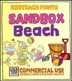 Fonts: KB3 Sandbox Beach 5-Font Set (Personal & Commercial