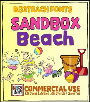 Fonts: KB3 Sandbox Beach 5-Font Set (Personal & Commercial