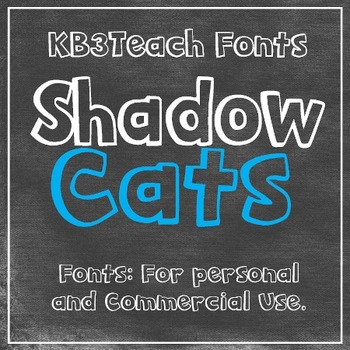 FONTS: KB3 Shadow Cats 2-Font Set (Personal & Commercial Use: K26 Series)