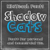 FONTS: KB3 Shadow Cats 2-Font Set (Personal & Commercial U