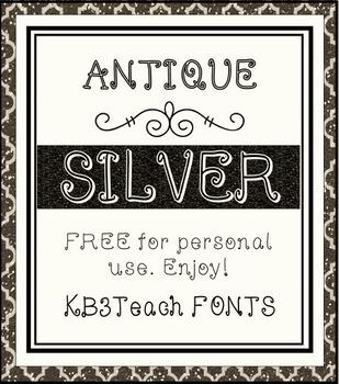 FREE FONTS: KB3 Filigree Fonts 4-Font Set (Personal Use)