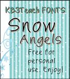 FREE FONTS: KB3 Snow Angels 5-Font Set (Personal Use)
