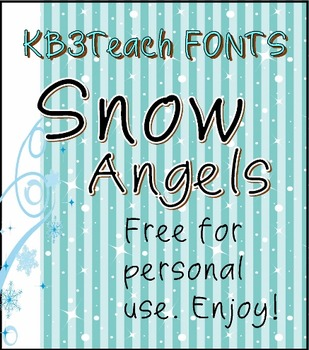 FREE FONTS: KB3 Snow Angels 5-Font Set (Personal Use)