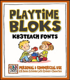 FONTS: KB3 Playtime Bloks (Personal & Commercial Use: K26 Series)