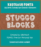 FREE FONTS: KB3 Stucco Blocks (Personal Use: K26 Series)