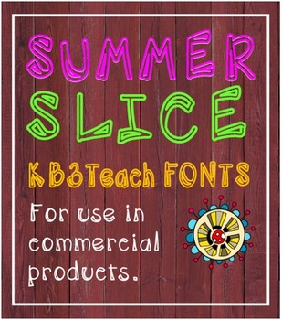 FONTS:  KB3 Summer Slice 5-Font Set (Personal & Commercial Use)