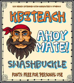 FREE FONTS: KB3 Swashbuckle (Personal Use: K26 Series)