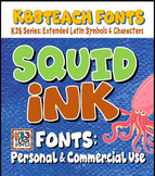 FONTS: KB3 Squid Ink 3-Font Set (Personal & Commercial Use: K26 Series)