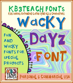 FONTS: KB3 Wacky Fonts / 6-Font Pack (Personal and Commercial Use: K26 Series)