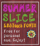 FREE FONTS:  KB3 Summer Slice (Personal Use)