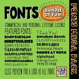 FONTS MEGA PACK BUNDLE 200+ Fonts (All KB3Teach Fonts)