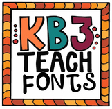 FONTS:  KB3Teach Fonts Credit Logo