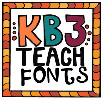 FONTS:  KB3Teach Fonts Credit Logo