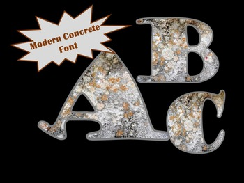 FONTS - Modern Concrete Lettering - Personal and Commercial Use