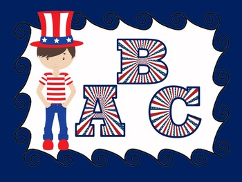 FONTS - PATRIOTIC Lettering - Personal and Commercial Use