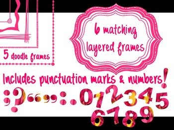 FONTS - Pink Daisy Print BUNDLE - Commercial & Personal use