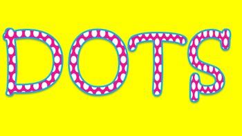 FONTS - Pink Polka Dot Font