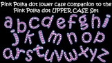 FONTS - Pink Polka Dot Font-lower case companion product