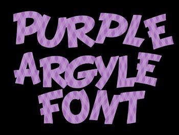 FONTS - Purple Argyle
