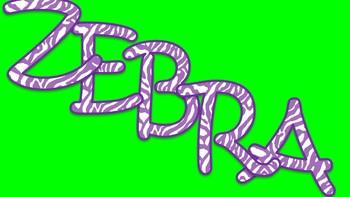 FONTS - Purple Zebra Stripe Font