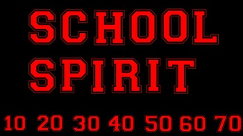 FONTS - Red School Spirit Font