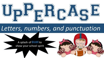 FONTS - Red and Blue School Spirit Font