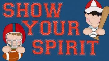 FONTS - Red and White Polka Dot School Spirit Font